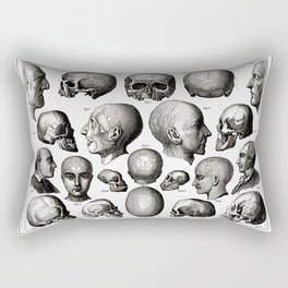 Ratio of Lobes Responsible for the Psychological Type of Person (Phrenology) Rectangular Pillow
