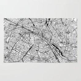 Paris White Map Rug