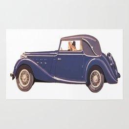 Vintage Car Oil Painting Rug