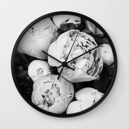Peonies Wall Clock