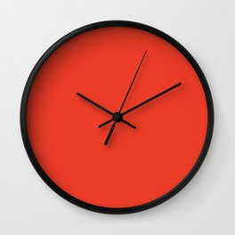 Cherry Tomato - Fashion Color Trend Spring/Summer 2018 Wall Clock