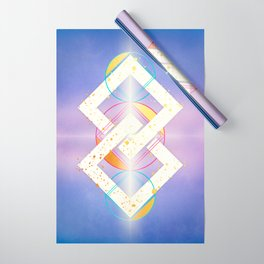 Linked Lilac Diamonds :: Floating Geometry Wrapping Paper