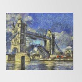 Tower Bridge and the Waverley Art Throw Blanket