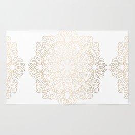 Mandala White Gold Shimmer by Nature Magick Rug