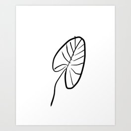 Exotic Leaf 2 Art Print