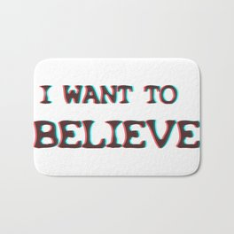 I Want To Believe  - Xfiles Bath Mat