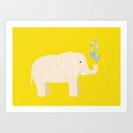 Magic Elephant II Art Print