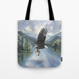 Eagle with Fish Tote Bag