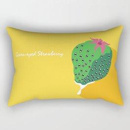 Greeneyed Strawberry Rectangular Pillow