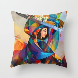 Baghdad is a bride Throw Pillow