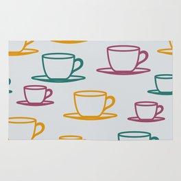 Teacups - multicolored Rug