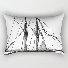 Engraved Yacht Rectangular Pillow