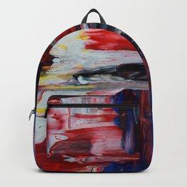 Blue Pillars on Red - Detail #2 Backpack
