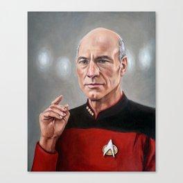 Captain Picard - Portrait Painting Canvas Print