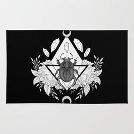 Scarab Queen // Black & White Rug