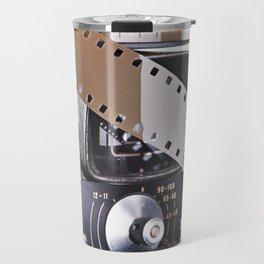 Retro mechanical movie camera and film Travel Mug