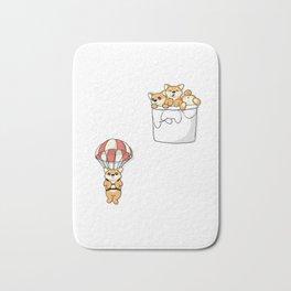 Cute Pocket Shiba Inus Bath Mat