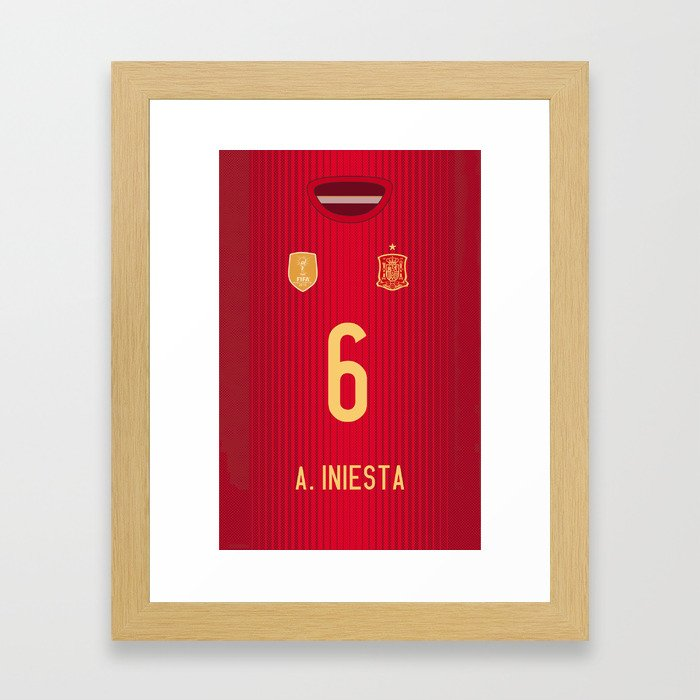 iPhone6 Iniesta Mobile Case Framed Art Print