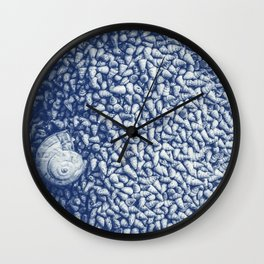 Cian snail shells Wall Clock