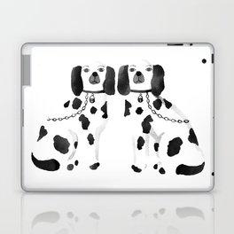Staffordshire Dogs (Black) Laptop & iPad Skin