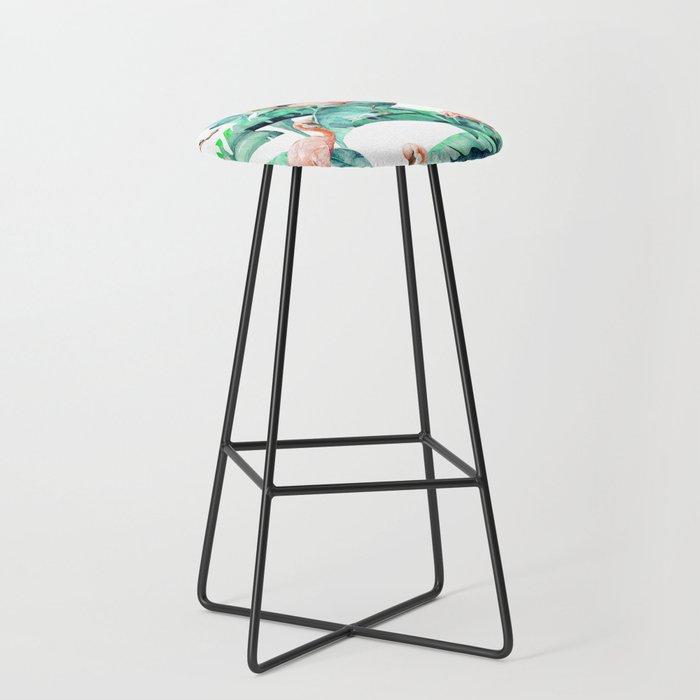 Tropical Flamingo Bar Stool
