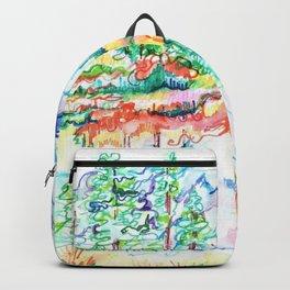 Colorful landscape Backpack