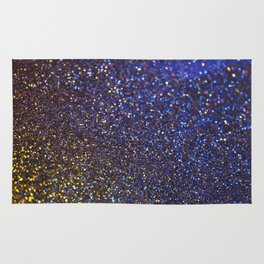 Blue and Gold Sparkles Rug