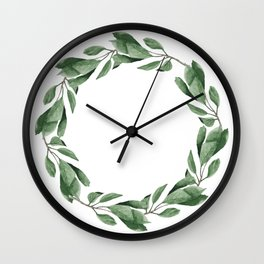Cherry leaves wreath Wall Clock