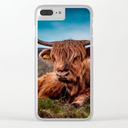 Scottish Highland longhorns Rancher Clear iPhone Case