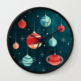 Joy to the Universe (in Teal) Wall Clock