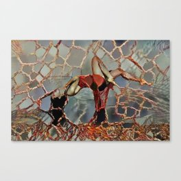Shattered in love Canvas Print