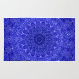 Cosmos Mandala II Cobalt Blue Rug