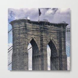 Brookly Bridge Metal Print