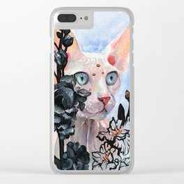 Gladioulus Clear iPhone Case