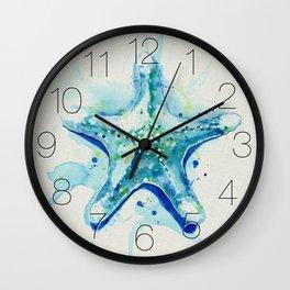 Starfish Waters II natural Wall Clock