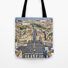 St Peter's Square in Rome, Italy Tote Bag