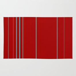 Modern Vertical Holiday Red Stripes Rug