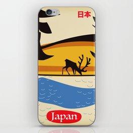 Japan vintage  travel poster. iPhone Skin