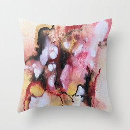 Abstract 1 by Saribelle Throw Pillow