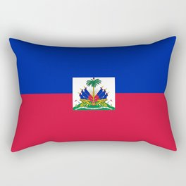 flag of haïti Rectangular Pillow