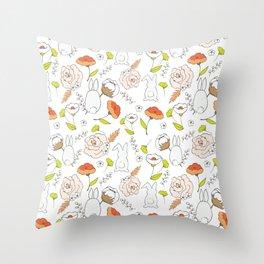 Spring blooming pattern Throw Pillow