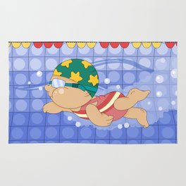 Olympic Sports: Swimming Rug