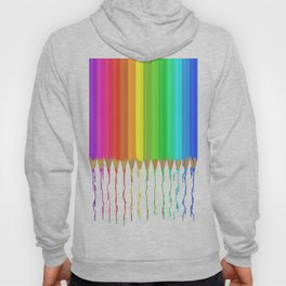 Melting Rainbow Pencils Hoody