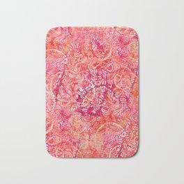 Abundance, Abstract Art Circles Grunge Bath Mat