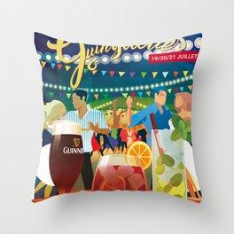 Guinguettes Throw Pillow
