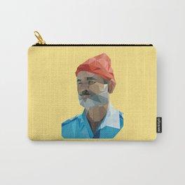 Steve Zissou low poly portrait Carry-All Pouch
