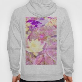 Water Lilies in Yellow, Pink and Purple Hoody