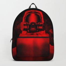 Toxic environment RED / Halftone hazmat dude Backpack