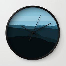 Blue Mountainscape Wall Clock