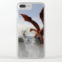 Dragon Fight Clear iPhone Case